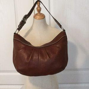 Coach Soho Pleated Chestnut Brown Leather Hobo Bag